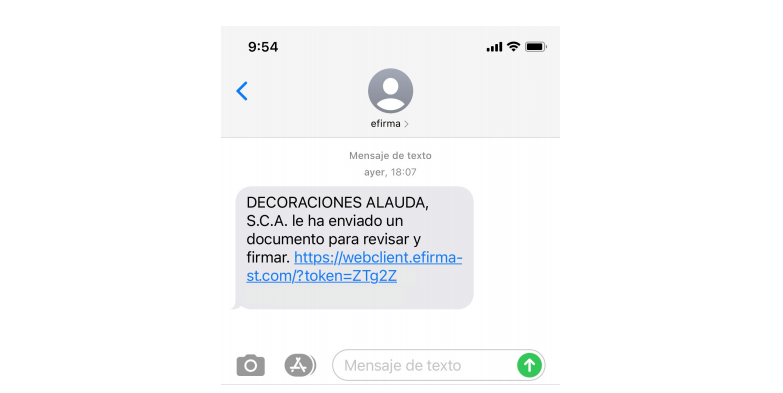 sms firma electronica
